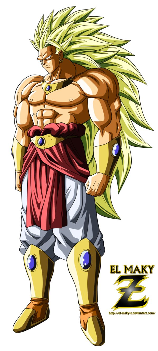 That's the legendary super saiyan Broly One of the strongest character in DBZ as you can see , this's like the evil in shape that's why i love him .... so i hope u like it