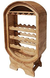 Perfect for your home or an intimate restaurant, you can store your wine in your wine cellar or in a cool dining room with this affordable wine rack. Theres space for glasses as well as numerous bottles.  Hand made in Mexico by skilled craftsmen, the sturdy solid pine has a rustic distressed finish.  The southwestern style goes well with other furniture.