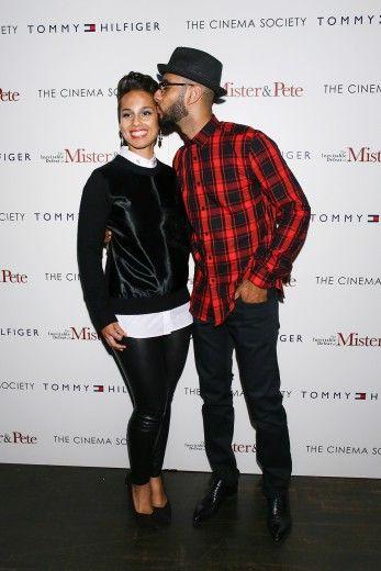 Sweet Love between Alicia Keys and her husband Swizz Beatz.