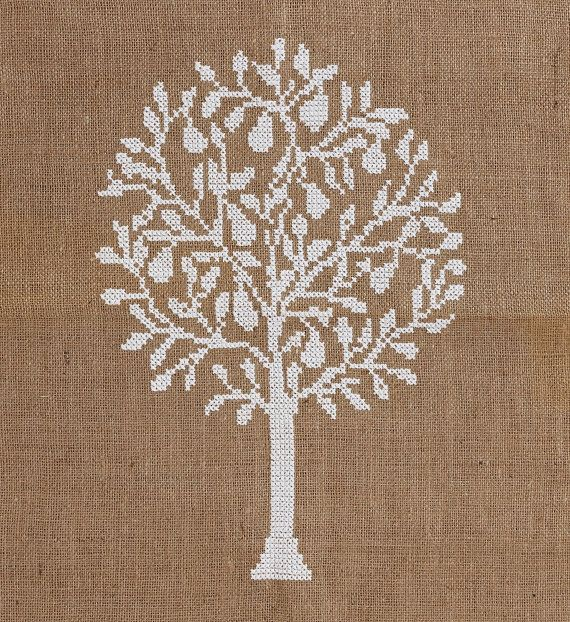 Pattern PEAR TREE cross stitchneedelpointcross by anetteeriksson