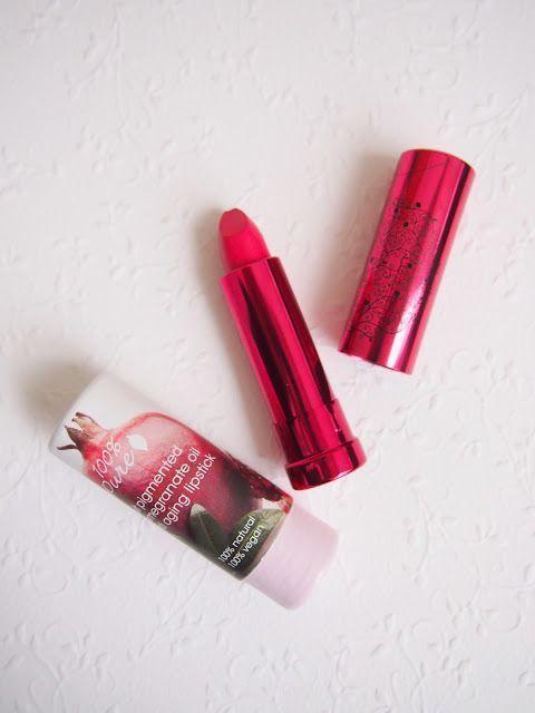 Kevättä huulilla: 100 % Pure Pomegranate Oil Lipstick
