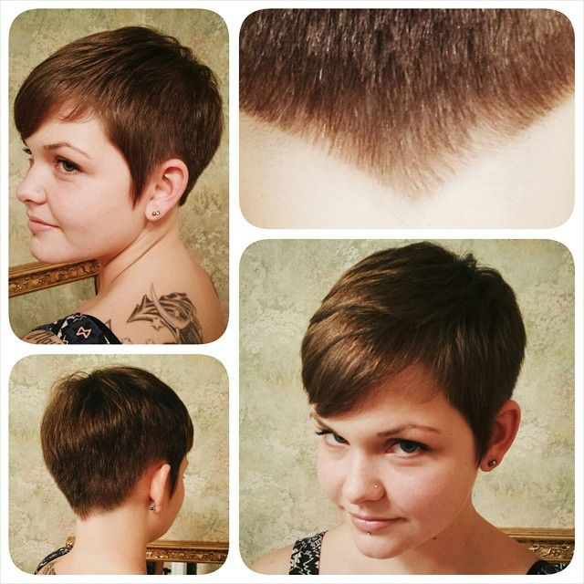 """""""Can I have a V in the back?"""" #thatv #shorthair #nothingbutpixies #nape #cutlife #girlswithshorthair #somethingclassic #bcbaby # graduation #layers #lines #bias #client #hbshootout #igotthejob #sassooncult #sassoontechnique thanks @sassoonacademyofficial #hair #haircutter #wellalife #wellaworld #sanehair #sanehair2014 like this so i can win a lil trip to the alma mater #hairdresser #education #dowhatyoulove #likethis"""