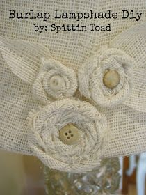 Best 25 Burlap Lamp Shades Ideas On Pinterest Shabby