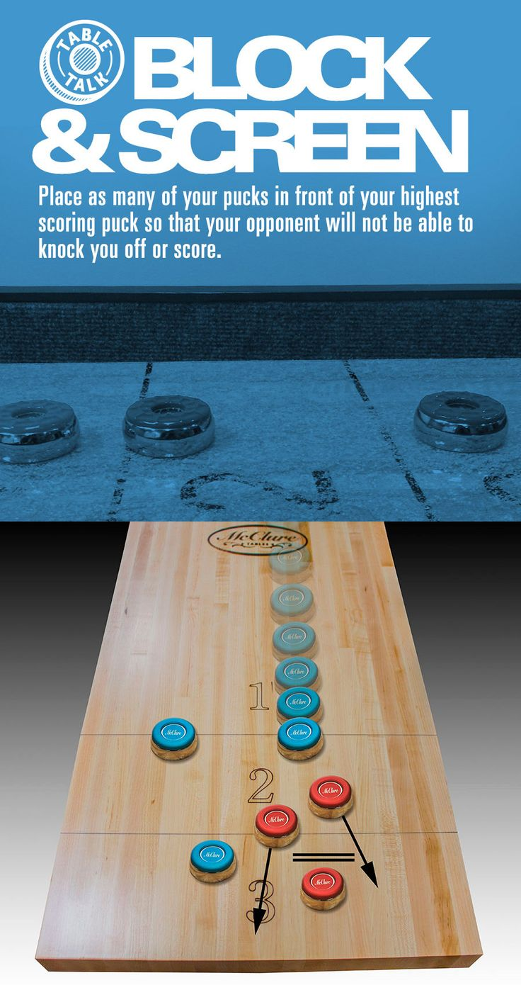 What's your trick? On your shuffleboard table have you