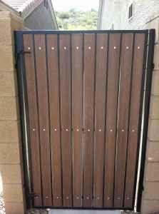 Steel Frame Gate Wood Slats Google Search Garden Gates