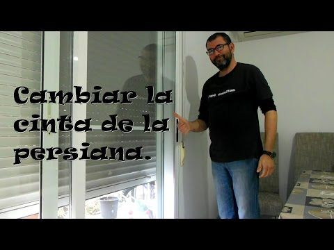 Cambiar la cinta a una persiana / Change the tape to a blind - YouTube