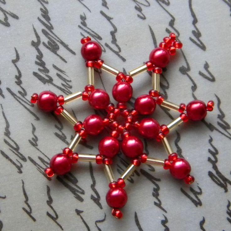 vánoční ozdoby z korálků návody - Hledat Googlem