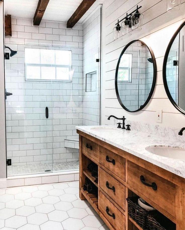 33 Best Farmhouse Master Bathroom Remodel Ideas