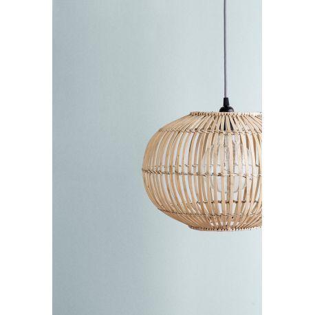 Suspension Zep bambou naturel - Eteinte comme allumée, cette suspension de la célèbre marque danoise Broste Copenhagen est un véritable objet déco naturel et stylisé.