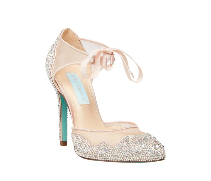 Sb Iris Champagne Blue By Betsey Johnson Wedding Shoes Bride Shoes