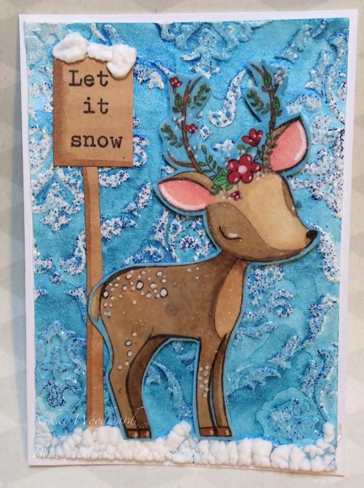 'Winter' inspired ATC, image by All Dressed Up.