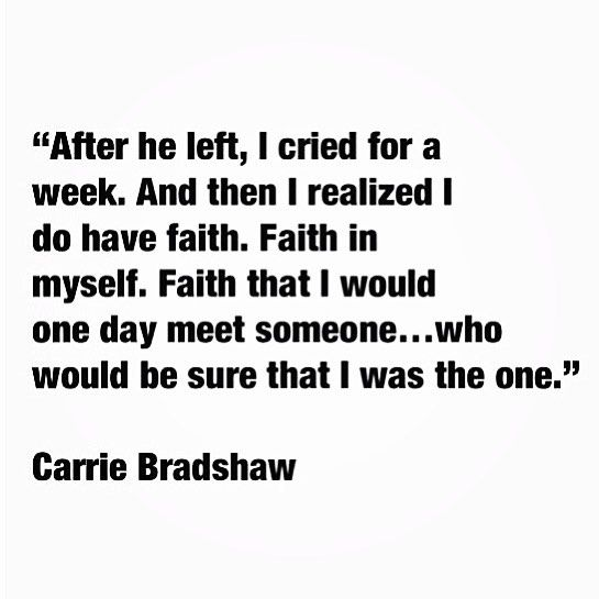 One of my favorite quotes from Sex In The City.  If you're familiar with the the series then you'll know that Carrie thinks/writes this after Mr. Big leaves on a trip without her because he's  unsure, or scared of a serious commitment .  #currentmood #sexinthecity #carriebradshaw  And so it goes .....