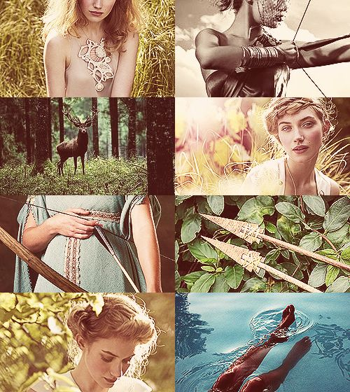Artemis Greek Mythology Dreamcast - Imogen Poots as Artemis Over the shadowy hills and windy peaks she draws her golden bow, rejoicing in the chase, and sends out grievous shafts. The tops of the high mountains tremble and the tangled wood echoes awesomely with the outcry of beasts… (x)
