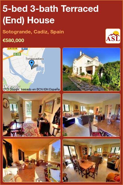 5-bed 3-bath Terraced (End) House in Sotogrande, Cadiz, Spain ►€580,000 #PropertyForSaleInSpain