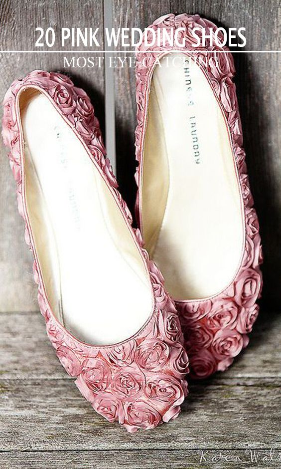 714bdb9a4 20 Most Eye-catching Pink Wedding Shoes. Cute Pink Flats for Weddings
