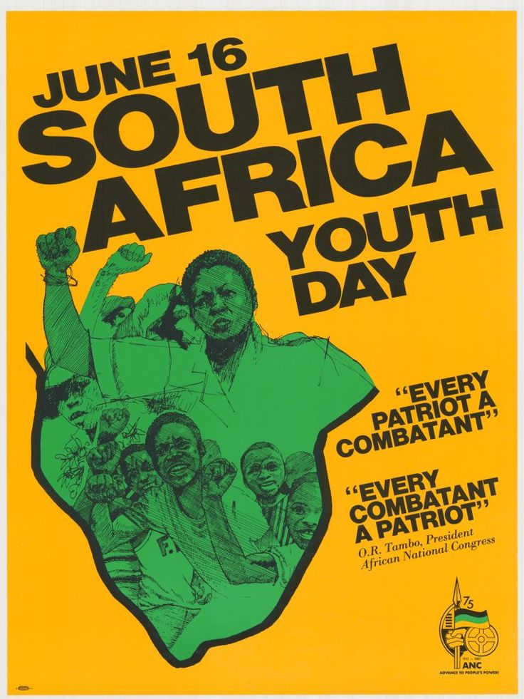"South Africa Youth Day  ""Every patriot a combatant"" ""Every combatant a patriot""  ~ O. R. Tambo, President African National Congress  June 16 marks the anniversary of the Soweto Uprising, when in 1976 South African high school students organized a series of protests in response to the introduction of Afrikaans as the medium of instruction in local schools. An estimated 20,000 students took part in the protests, and the number of people who died as a result of clashes..."