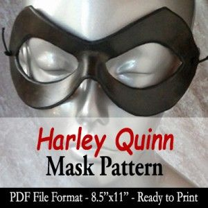 harley quinn mask template - mask pattern harley quinn by angelic artisan the