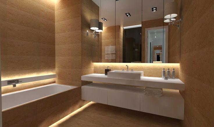 modern bathroom / nowoczena łazienka -  interior design by QLT design / projekt restauracji QLT design