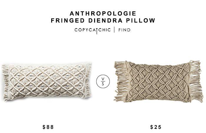 Throw Pillows Luxury : Anthropologie Fringed Diendra Pillow for $88 vs Mara Macrame Decorative Pillow for $25 ...
