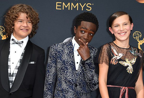 "'Stranger Things' Stars Brought 'Uptown Funk' To The Emmys Don't believe me? Just watch! Perhaps the next season of Stranger Things should be a musical? Its young stars clearly have a penchant for bursting into song - as evidenced by Gaten Matarazzo broadway background and, and Millie Bobby Brown's bananas rendition of Nicki Minaj's ""Monster"".  Their latest musical antics? Performing Uptown Funk at the Emmys pre-show. Matarazzo and Brown aka Eleven and Dustin were joined by their co-star…"