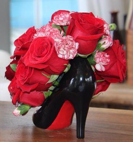 Ceramic High Heel Shoe Vase