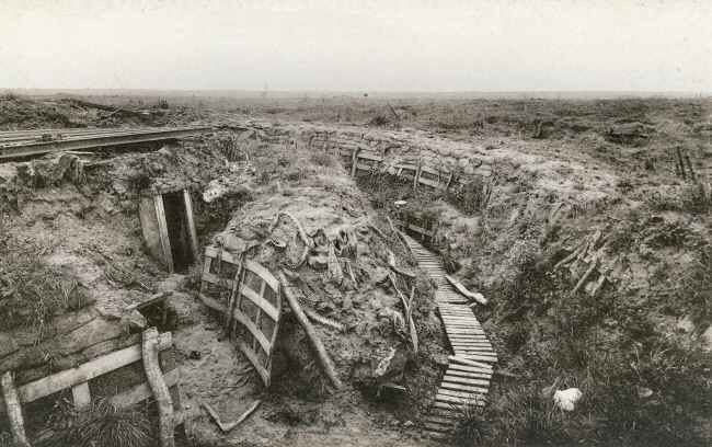 Trenches at Zonnebeke on the road to Ypres