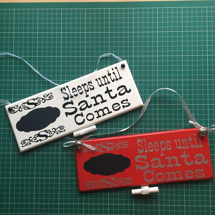Sleeps Till Santa Comes Countdown Plaque, Christmas Hanging Countdown Sign,Chalk  Countdown Sign, Christmas Decoration, festive decoration by SprattsDesigns on Etsy