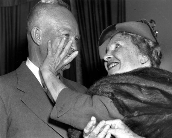 Helen Keller and President Eisenhower.