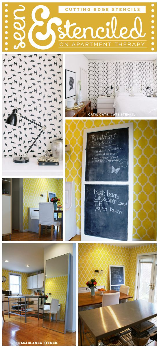 10 best Stenciled Walls in YELLOW!!!! images on Pinterest | Wall ...