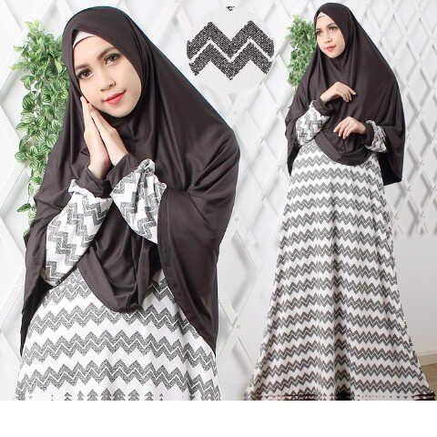 Model Baju Terbaru Vanila Hitam Putih | Gamis Terbaru Syari Vanila