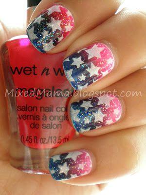 Best Patriotic Stars Nail Art
