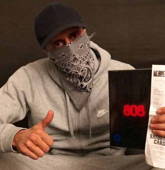 bandana grey as mask
