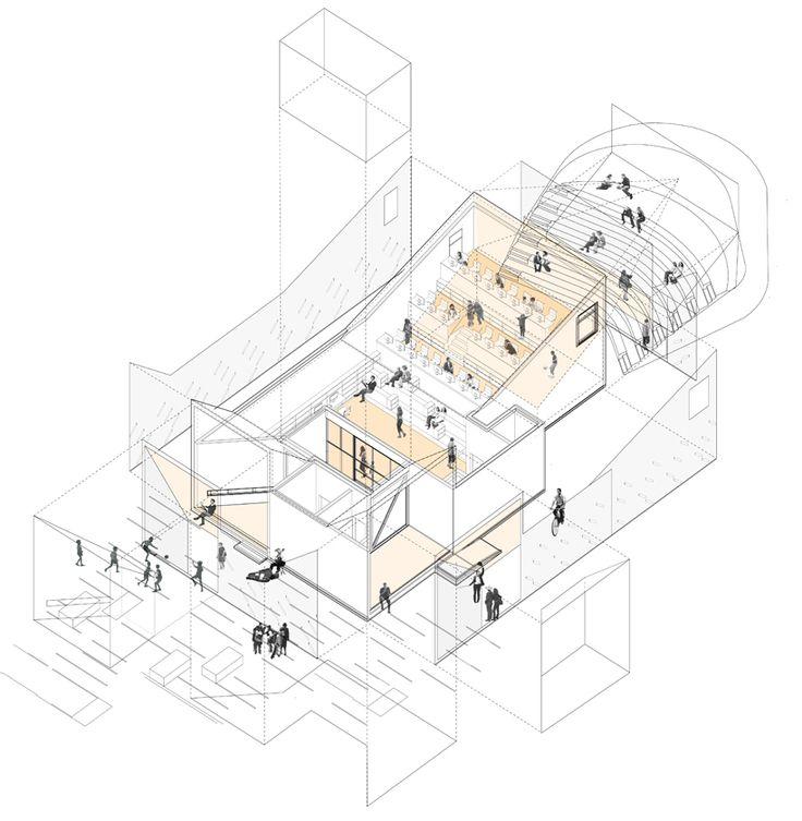 8 best axonometric discontent images on pinterest for Architektur axonometrie