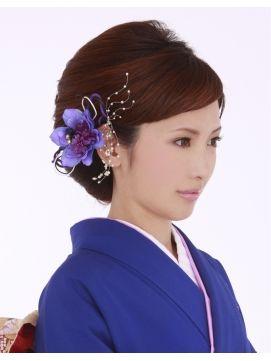 これぞ大和撫子!和服に似合う上品な髪型の画像