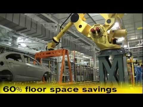 M-2000iA Car Body Transfer Robot & M-20iA Sealer Robot - FANUC Robotics Industrial Automation - YouTube
