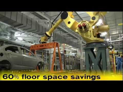 M-2000iA Car Body Transfer Robot & M-20iA Sealer Robot - FANUC Robotics Industrial Automation - YouTube
