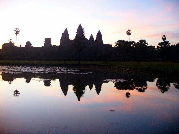 Dawn at Angkor Wat's Lake of Reflection