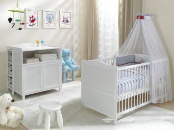 Komplet białych funkcjonalnych mebli VINTAGE do pokoiku dziecięcego