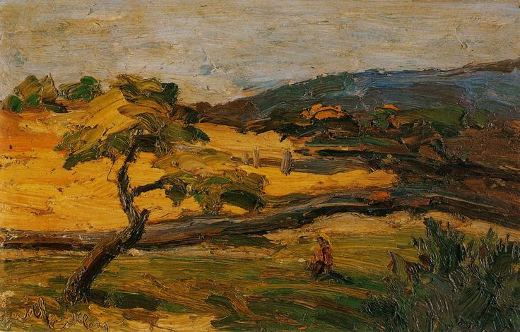 Landscape, Nikolaos Lytras | Canvas, brush effect, oil paintings, poster and framing by artivity