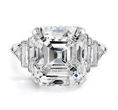 An asscher cut diamond ring
