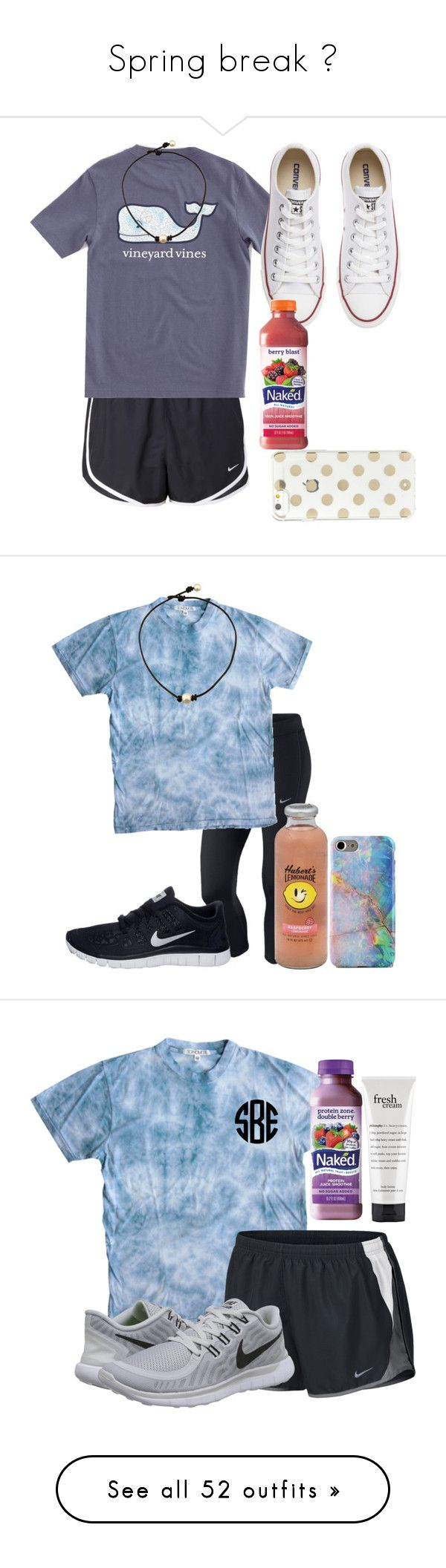 """Spring break "" by wander-krn ❤ liked on Polyvore featuring NIKE, Vineyard Vines, Converse, Kate Spade, Sophomore, Hansen, philosophy, Zone, Chaco and Harding-Lane"