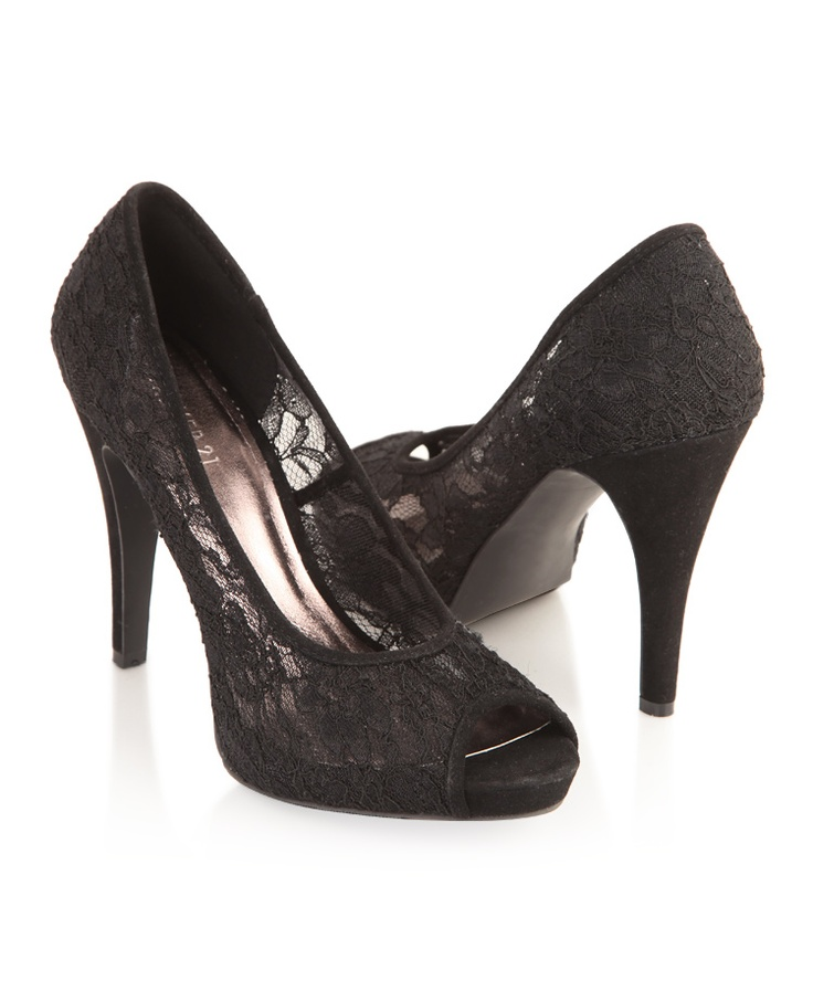 Lace Peep-Toe Pumps....wish they were avaliable in mid-low heels!!