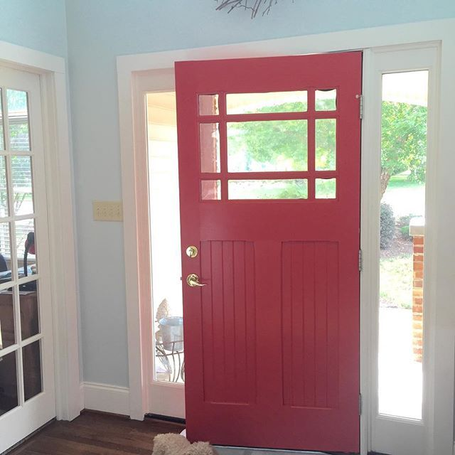 """""""I mixed some Ambitious into a lot of Cheerful and I got my beachy coral Front Door Paint! Now if I could just pick up the ocean and plop it in my front yard it would be perfect for me!"""" - Beautiful door makeover project by Paige Sisk of Beyond Finished!"""