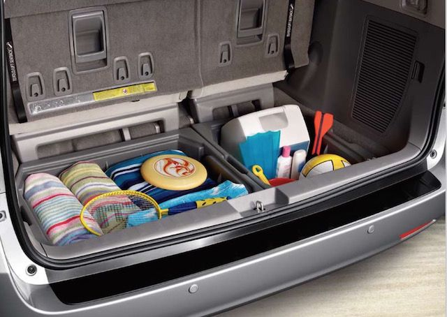 Stow away your essentials with an OEM Toyota cargo organizer. PT924-08100-40