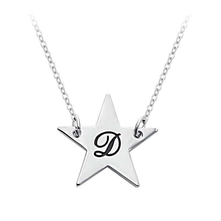 Senfai Custom Silver Plated Fashion  Personalised Name Letters Star Type Pendant Necklace  Birthday Gifts Dainty Adornment #Affiliate