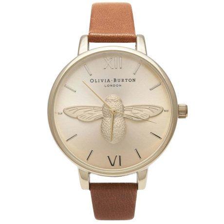 Trouva: Olivia Burton Olivia Burton Moulded Bee Tan Gold Watch