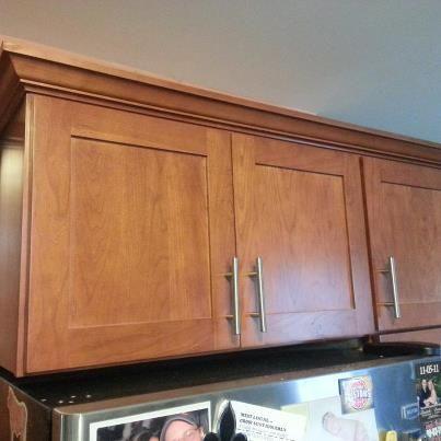 Bridgewood Advantage Cabinets, Mission Door Style, Cherry Wood Cabinets.