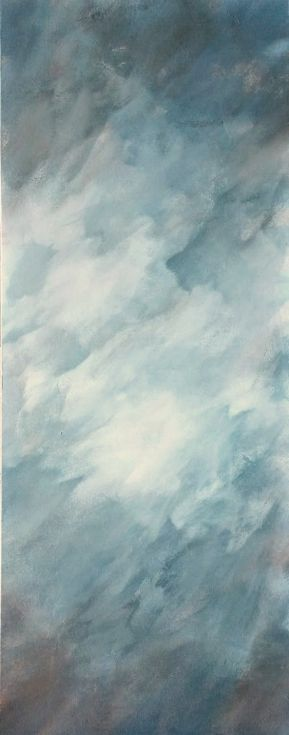 """ARTFINDER: Sultry Skies by Jessica Sanders - """"Sultry Skies"""" is a sensual skyscape. It beckons to you with smoky blue and hints of chocolate brown, yet, it doesn't draw too much attention to itself. ..."""