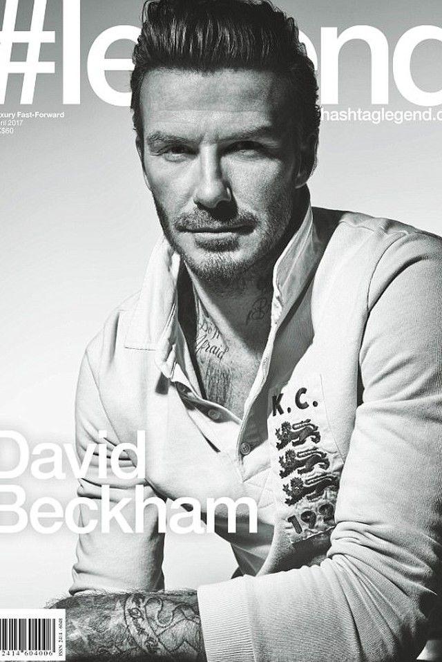 David Beckham wearing  Kent And Curwen Patch detail polo shirt