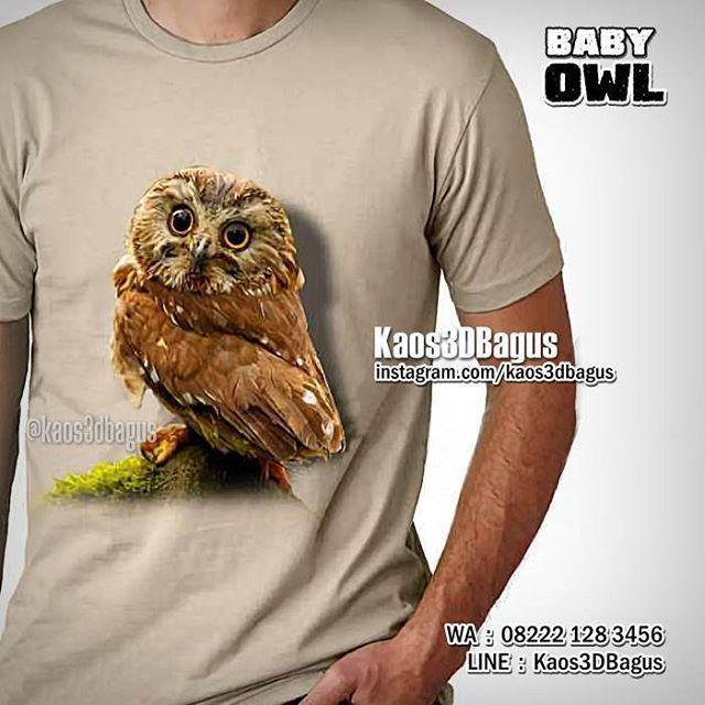 Kaos BURUNG HANTU, Kaos3D, Baby Owl, Kaos OWL, Kaos ANIMAL, https://www.facebook.com/kaos3dbagus, WA : 08222 128 3456, LINE : Kaos3DBagus